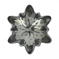 Cabochon Swarovski 4753 Edelweiss 18 mm Crystal Silver Night x1