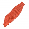 Peau en cuir de poisson Orange mat x1