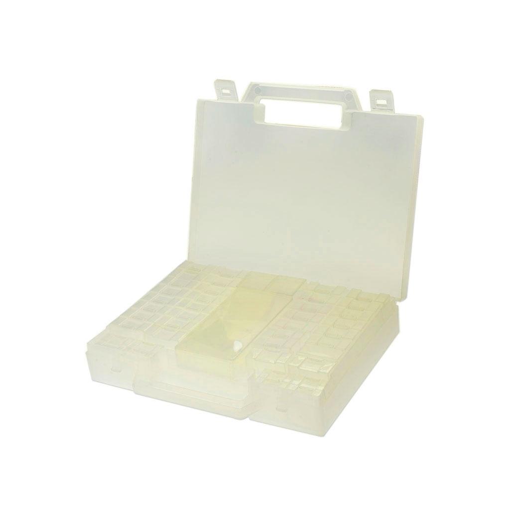 malette de rangement eco 52 compartiments x1 perles co. Black Bedroom Furniture Sets. Home Design Ideas