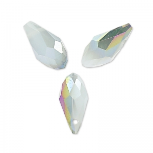 Briolettes 12x6 mm Grey Opal Purple Iris x50