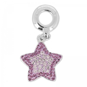 Pavé Charms Swarovski 86512 14 mm Light Amethyst/Amethyst x1