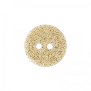 Bouton Nacre rond pailleté 12 mm Gold x1