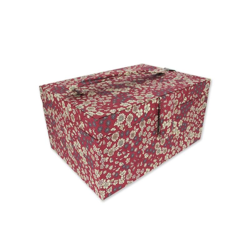Bo te couture en tissu fleuri x1 frou frou perles co for Boite a couture yvetot