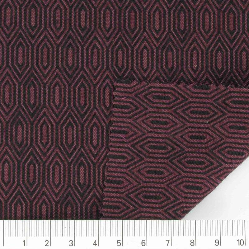 Tissu jacquard coton polyester r versible bordeaux noir x10cm perles co - Couleur bordeau en anglais ...