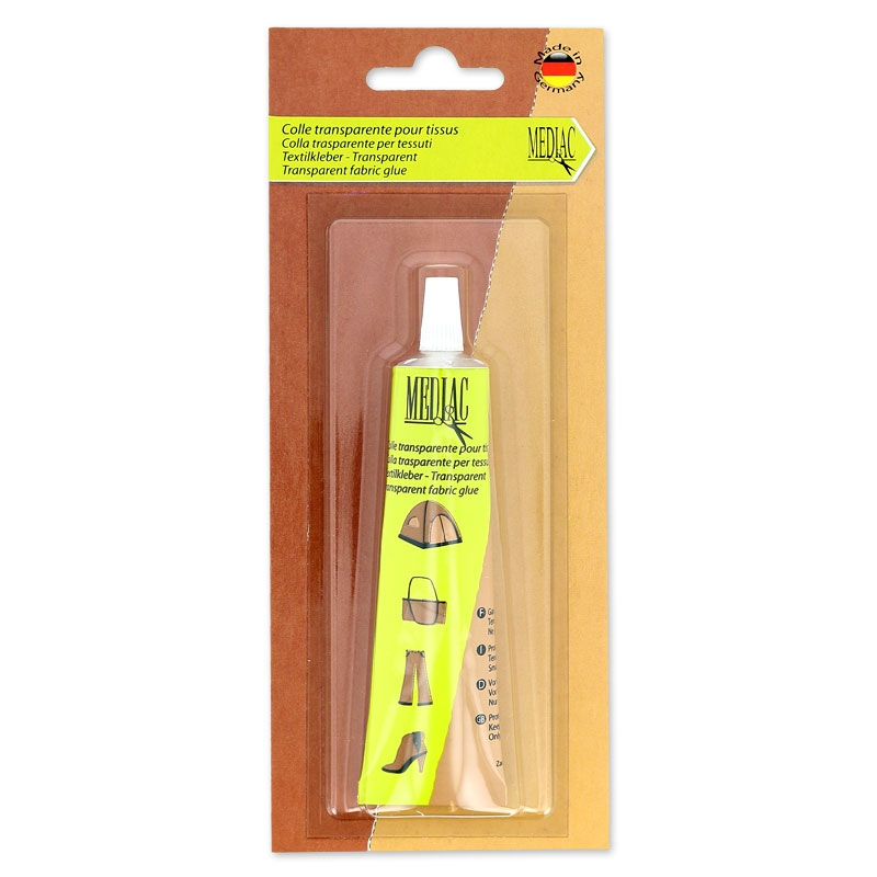 Colle pour tissu transparente x30ml colles mediac - Quelle colle utiliser pour coller du tissu ...