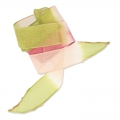 Ruban en soie 25 mm Tie and Dye Lillie Olive/Rose/Framboise x85cm