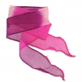 Ruban en soie 25 mm Tie and Dye Princess Rose/Fuchsia/Purple x85cm