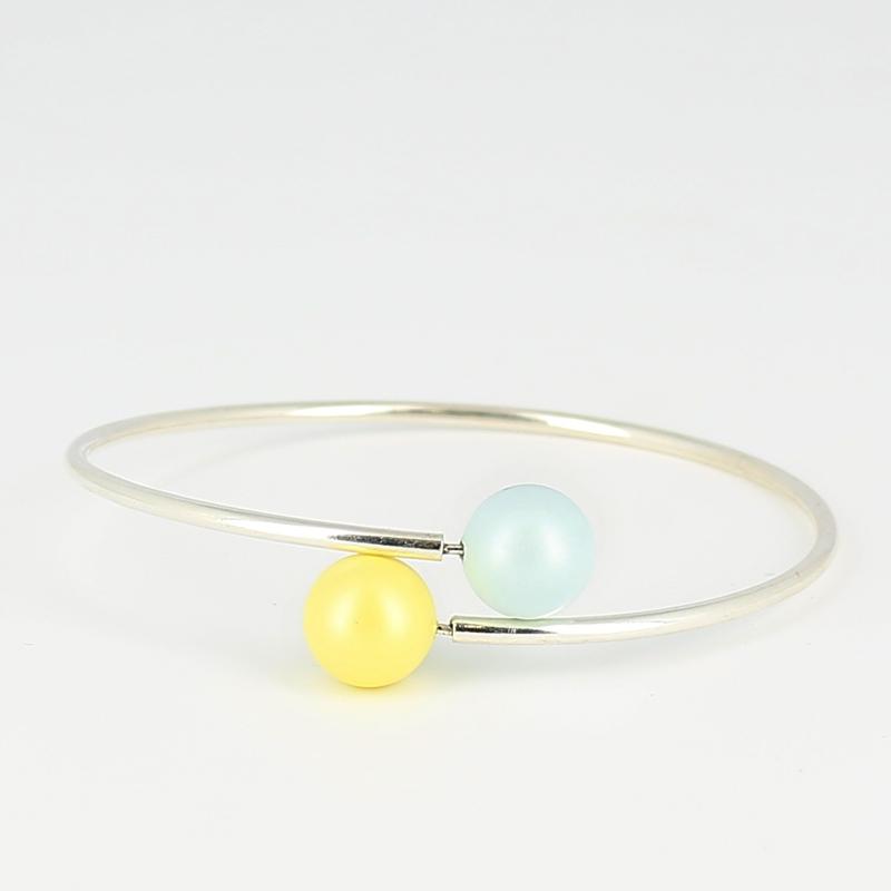bracelet flexible 21 5 cm pour semi perc es en argent 925 x1 perles co. Black Bedroom Furniture Sets. Home Design Ideas