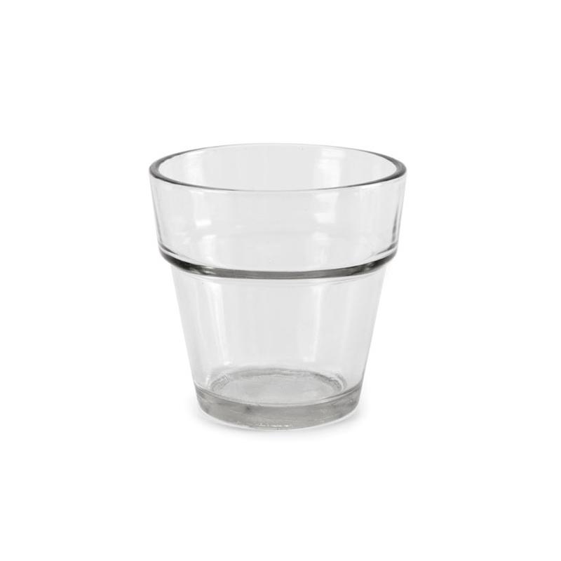 Porte bougie 6 6 cm en verre x1 perles co for Porte bougie en verre