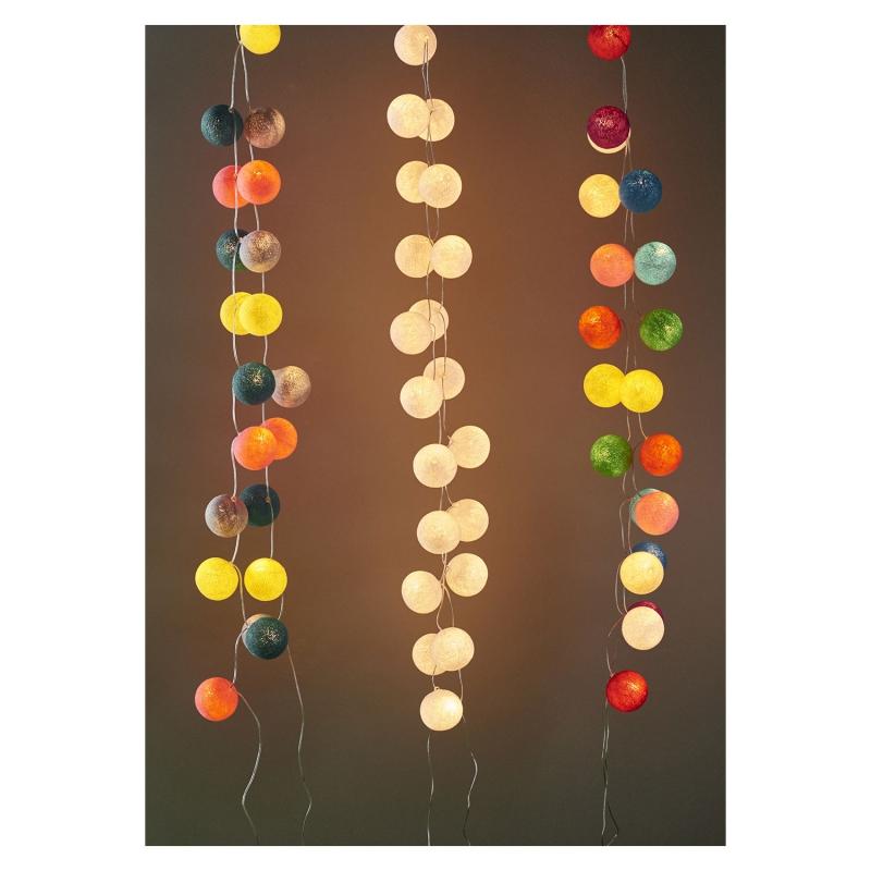 Guirlande lumineuse boules 7 cm arc en ciel x1 perles co - Guirlande boule de couleur ...