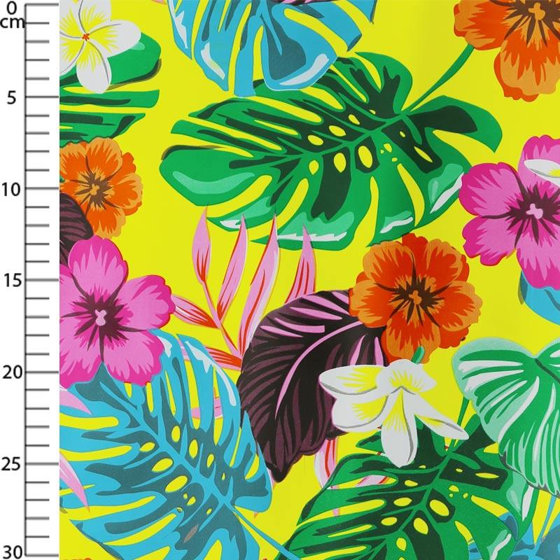 Toile ciree Fleurs exotiques Multicolore xcm p