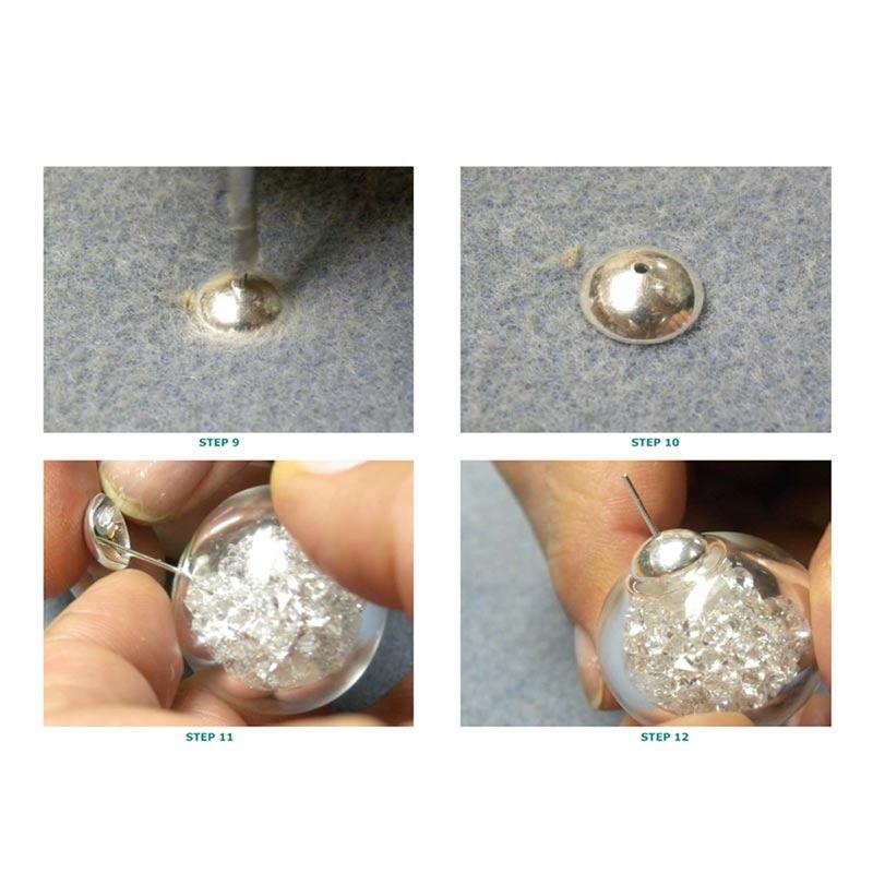 donut en verre un trou garnir 40 mm x1 perles co. Black Bedroom Furniture Sets. Home Design Ideas