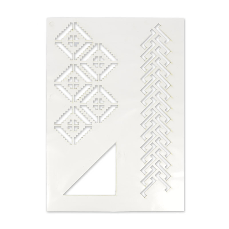 Pochoir adh sif pour tissu 210x297 mm g om trique x1 for Pochoir geometrique