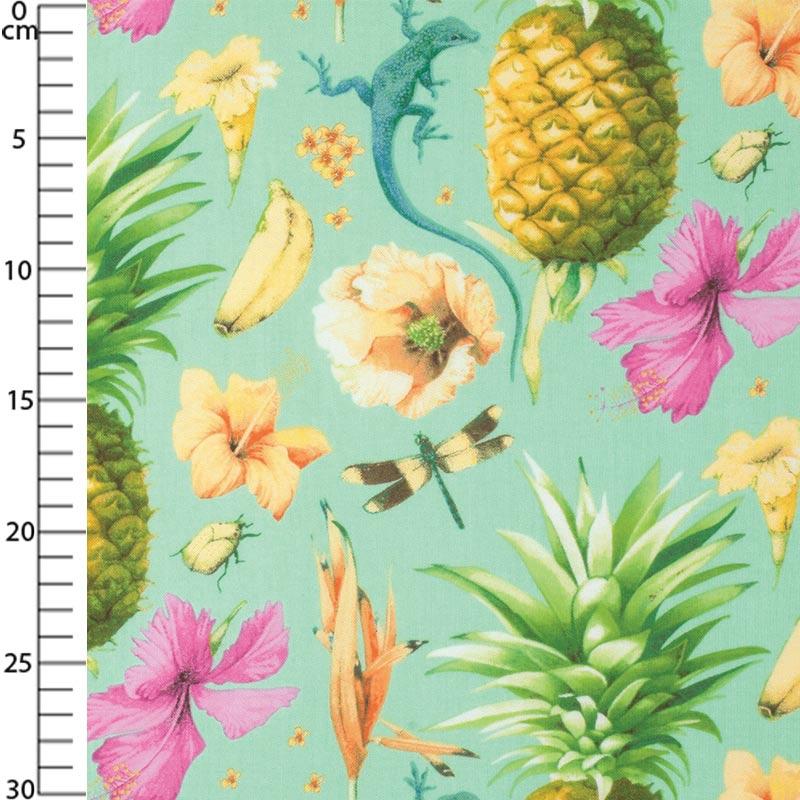 tissu grand cayman anole tropical x10cm free spirit. Black Bedroom Furniture Sets. Home Design Ideas