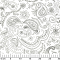 Tissu Color Me - Princess Paisley White x10cm