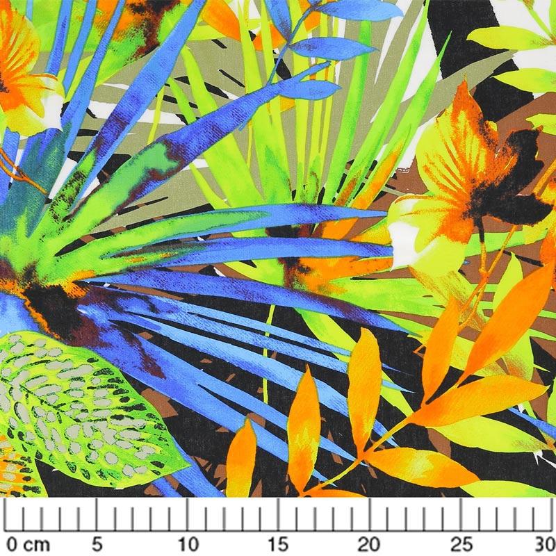 tissu tropical madness border multicolore x10cm. Black Bedroom Furniture Sets. Home Design Ideas