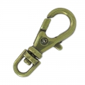 Porte Clefs mousqueton 23 mm bronze x1