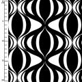 Tissu Op Art Reflection - Black/white Ribbon Weave x10cm