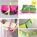 Tissu Neon & On - Neon Pink Honeycomb x10cm