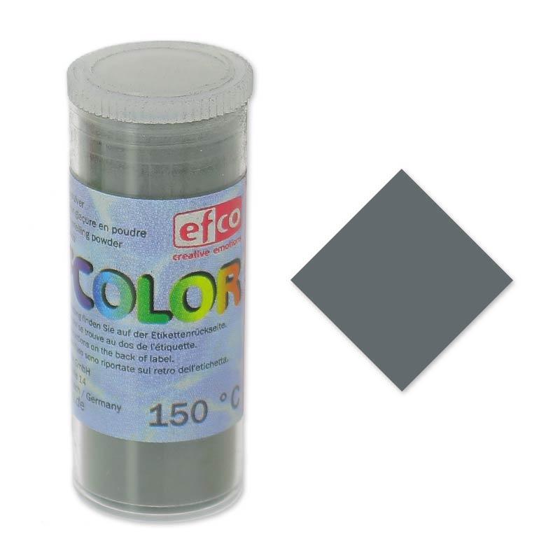 poudre de sur gla ure efcolor gris fonc x10ml efco perles co. Black Bedroom Furniture Sets. Home Design Ideas