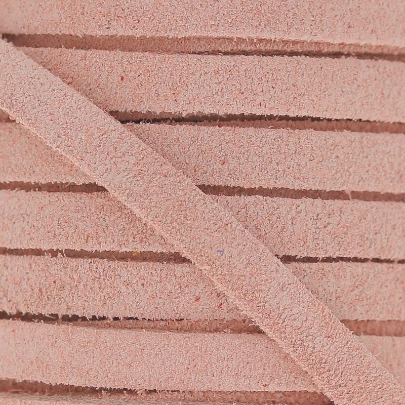 date de sortie 10771 1e596 Lacet cuir façon daim 5 mm Light Rose x50cm