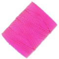 Fil C-LON Beading Cord 0,50 mm Fluo Hot Pink x 82 m