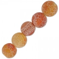 Cracked Agate 6 mm Dark Peach x15