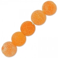 Cracked Agate 6 mm Orange x15