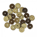 Perles coco disques 15 mm Marron x25