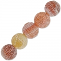 Cracked Agate 8 mm Dark Peach x10