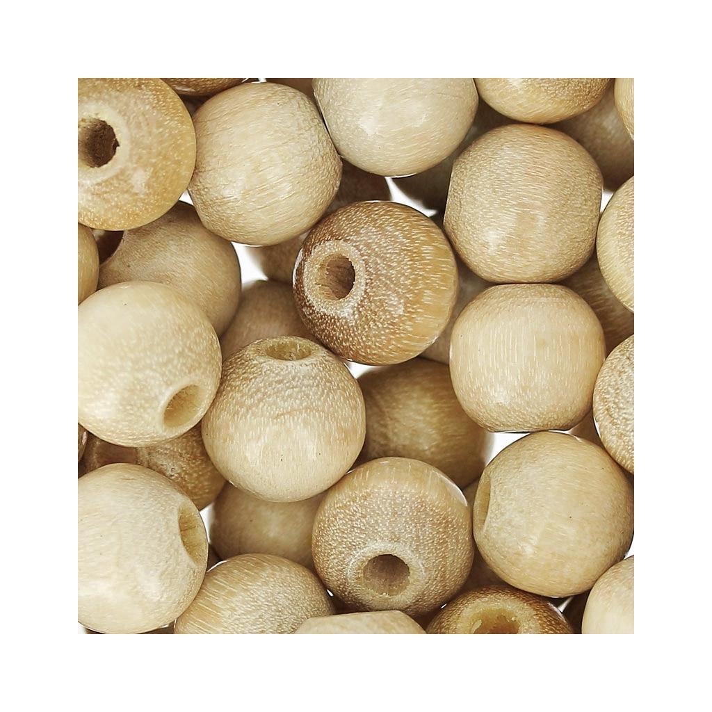 perles rondes en bois 8 mm naturel x85 perles co. Black Bedroom Furniture Sets. Home Design Ideas
