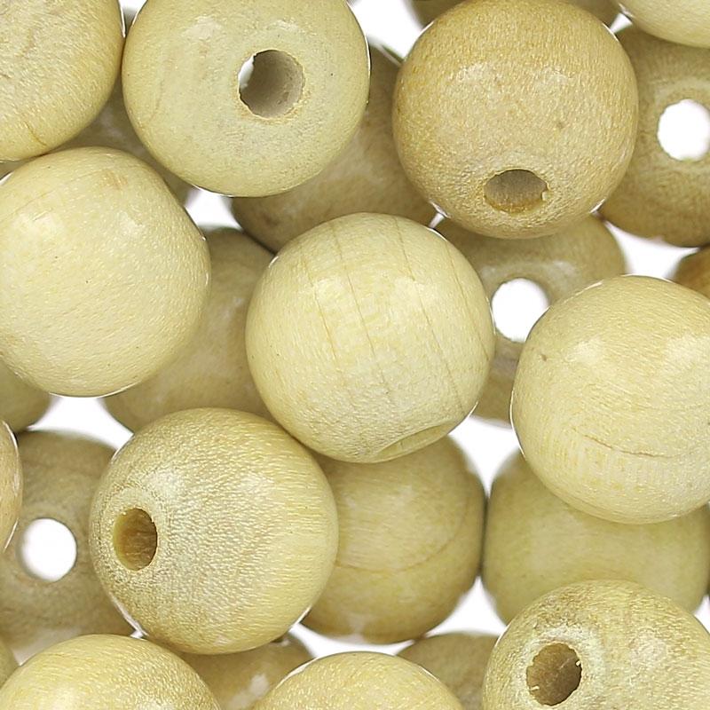 perles rondes en bois 10 mm naturel x50 perles co. Black Bedroom Furniture Sets. Home Design Ideas