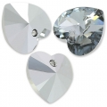 Coeurs Swarovski 6228 10,3x10 mm Crystal Light Chrome x6