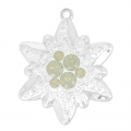 Pavé Pendant Swarovski 67442 26 mm Crystal Moonlight/Lt Grey Opal x1