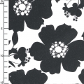 Tissu Opposites Attract - Big Floral in Black on White x10cm