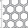 Tissu Opposites Attract - White Honeycomb x10cm