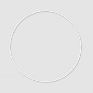 cercle nu en m tal pour attrape r ves suspension et abat jour 25 cm blanc x1 perles co. Black Bedroom Furniture Sets. Home Design Ideas
