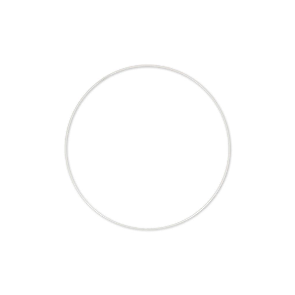 cercle nu en m tal pour attrape r ves suspension et abat jour 20 cm blanc x1 perles co. Black Bedroom Furniture Sets. Home Design Ideas