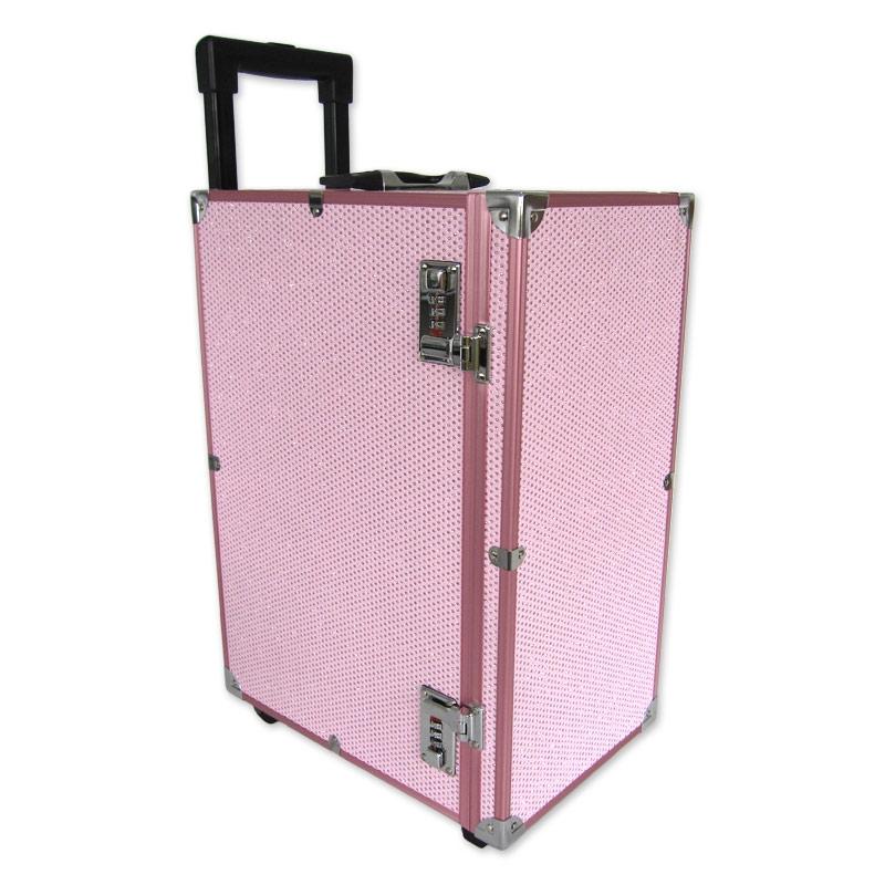 valise transport bijoux avec plateaux 51x23x33 5 cm rose. Black Bedroom Furniture Sets. Home Design Ideas