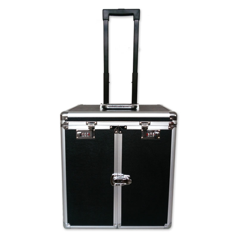 valise transport bijoux avec plateaux professionnel noir x1 perles co. Black Bedroom Furniture Sets. Home Design Ideas