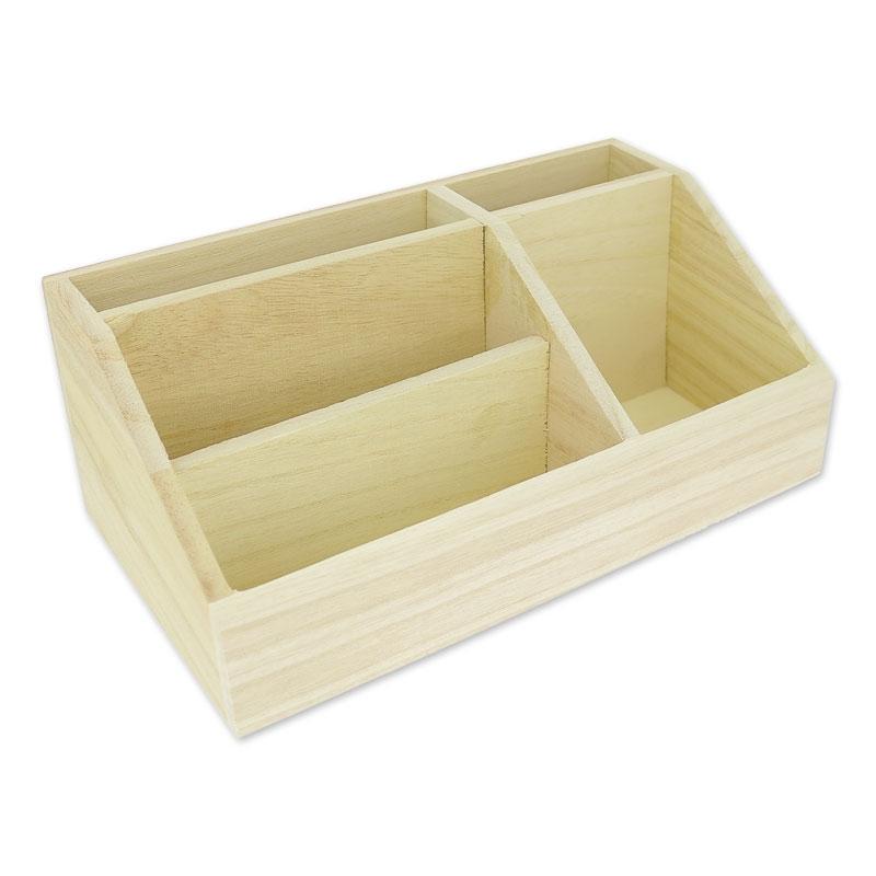 boite de rangement en bois patchwork family 24x13 5 cm naturel x1 perles co. Black Bedroom Furniture Sets. Home Design Ideas