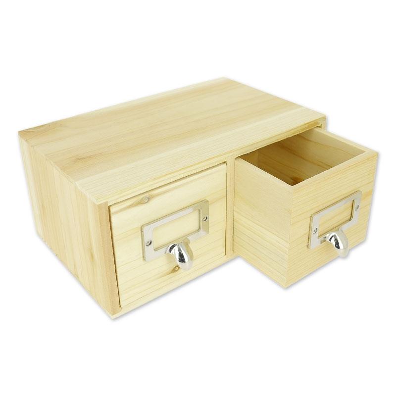 boite de rangement en bois patchwork family 22x14 cm naturel x1 perles co. Black Bedroom Furniture Sets. Home Design Ideas