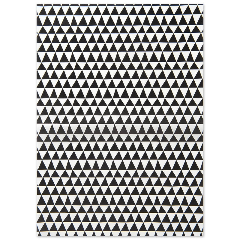 Paper patch triangles 42x30 cm blanc noir x1 feuille for Feuille inox a coller