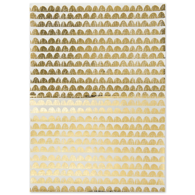 Paper patch arcades 42x30 cm blanc dor x1 feuille rico for Feuille inox a coller