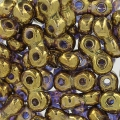 Infinity Beads 4x8 mm Crystal Gold Bronze x10g