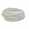 Cadeau - Bracelet Swarovski multirangs - Twisted Glamour Green x1