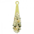 Pavé Pendant Swarovski 67462 20 mm Crystal Golden Shadow x1