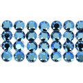 Swarovski Crystal Mesh 40001 4 rangs 11 mm Crystal Metallic Blue x5cm