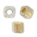 Cubes Toho 4 mm TC-04-994 - Gold Lined Rainbow Crystal x10g