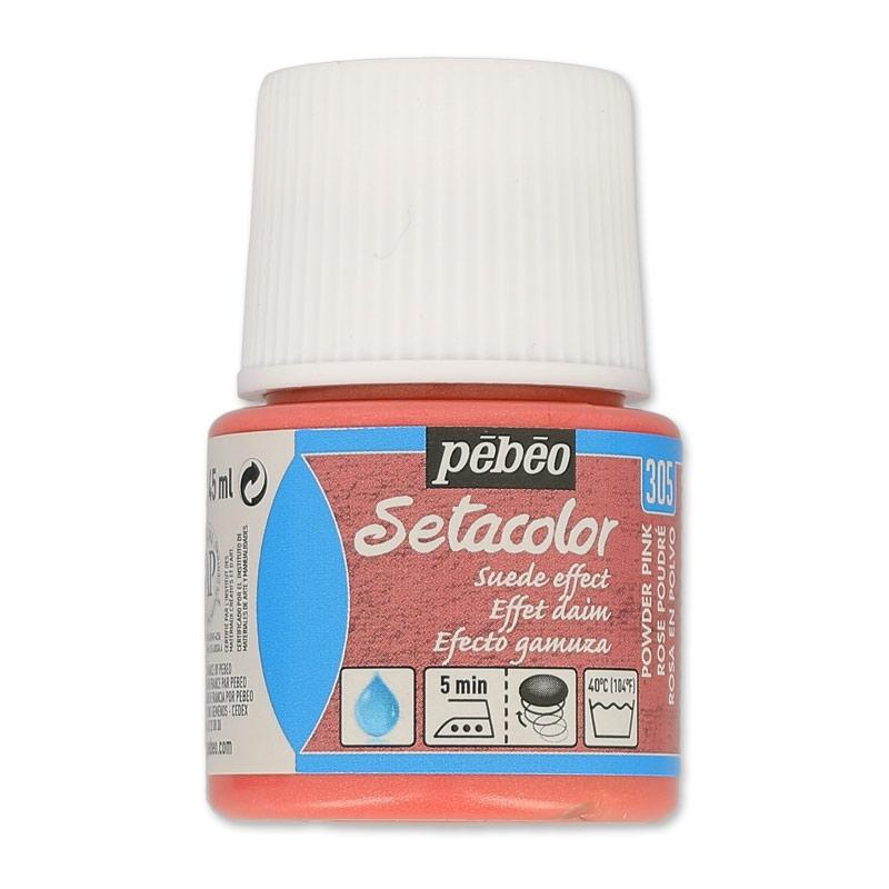 Peinture setacolor opaque effet daim rose poudre n 305 x45ml p perles co - Peinture rose poudre ...